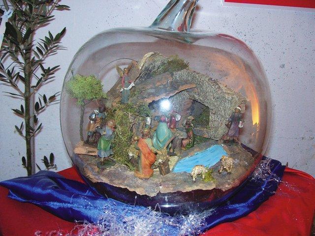 presepe in sfera di cristallo